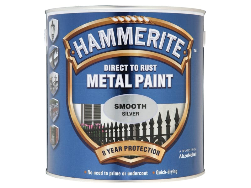 Direct to Rust Smooth Finish Metal Paint Silver 2.5 Litre