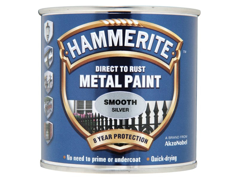 Direct to Rust Smooth Finish Metal Paint Silver 750ml