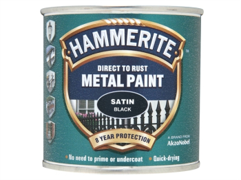 Direct to Rust Satin Finish Metal Paint Black 250ml