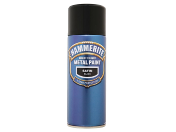 Direct to Rust Smooth Finish Aerosol Satin Black 400ml