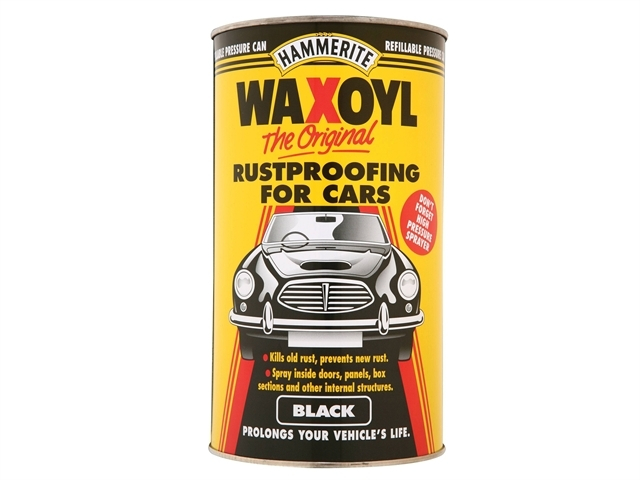 Waxoyl Black Pressure Can 2.5 Litre