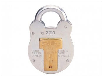 220 Old English Padlock with Steel Case 38mm