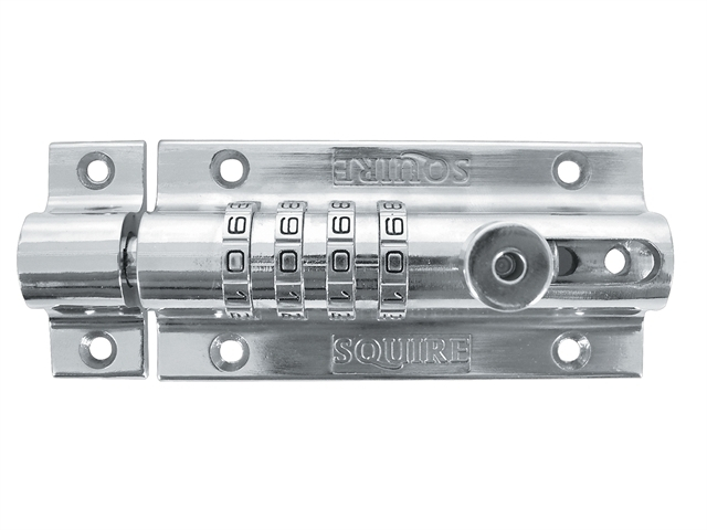 Combi 2 Re-Codeable Locking Bolt 120mm - Chrome