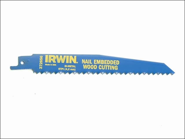 656R 150mm Sabre Saw Blade Nai l Embedded Wood Cut Pack of 5