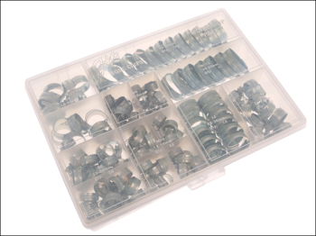 Workshop Pack 143 Assorted Hose Clips (Mild Steel)