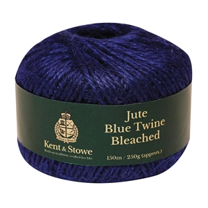 Jute Twine Bleached Blue 150m (250g)