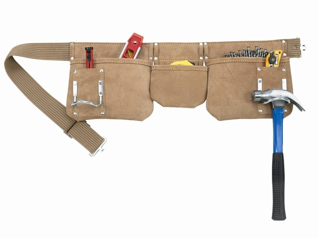 AP-1300 Carpenter's Apron 5 Pocket Suede Leather