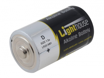 D LR20 Alkaline Batteries 14800 mAh (Pack 2)
