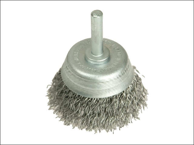 DIY Cup Brush with Shank 50mm x 0.35 Steel Wire