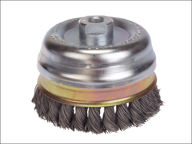 Knot Cup Brush 65mm M10 x 0.50 Steel Wire