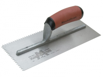M701SD V 3/16in Notched Trowel DuraSoft Handle 11 x 4.1/2in