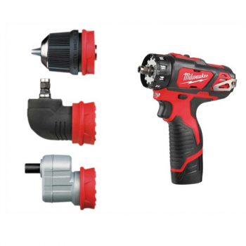 M12 BDDX KIT-202C Removeable C huck Drill Driver 12V 2 x 2.0A