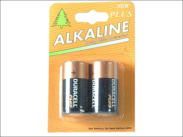 C Cell Alkaline Duracell RePac k MN1400 Batteries Pack of 2
