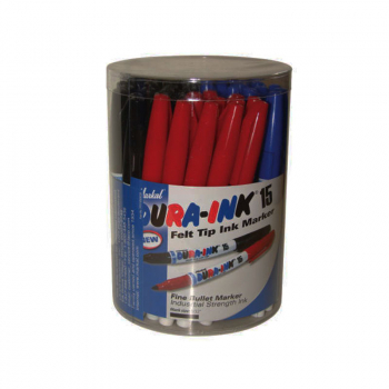 DURA-INK 15 Fine Tip Marker M ixed Colours (Tub 48)