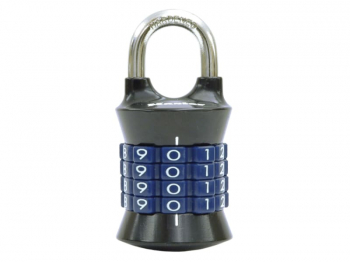 Tower 37mm Padlock 4-Digit Grey