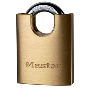 Solid Brass 50mm Padlock 5-Pin Shrouded Shackle