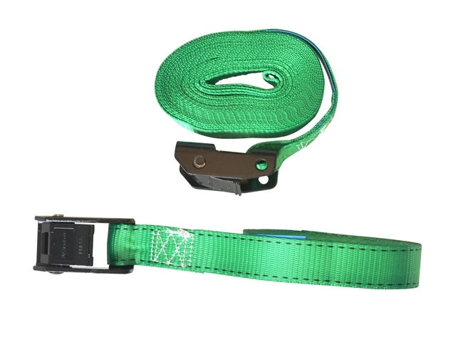 Lashing Straps with Metal Buck le Coloured 5m 150kg 2 Piece