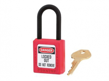 Lockout Padlock 38mm Body & 6mm Composite Nylon Shackle