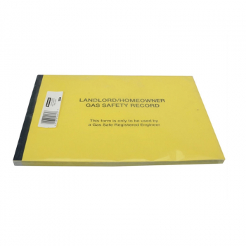 532P Gas Safe Landlords Gas S afety Record Pad of 50