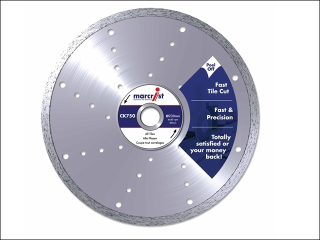 CK750 Diamond Blade Smooth Tile Cut 200 x 25.4mm Machine