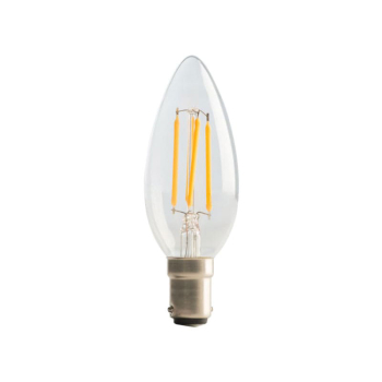 LED Candle Clear Filament Bulb B15 (SBC) Dimmable 470 Lumen