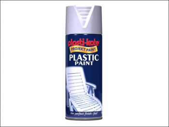 Plastic Paint Spray White Gloss 400ml