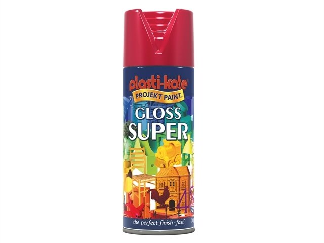 Super Gloss Spray Bright Red 400ml