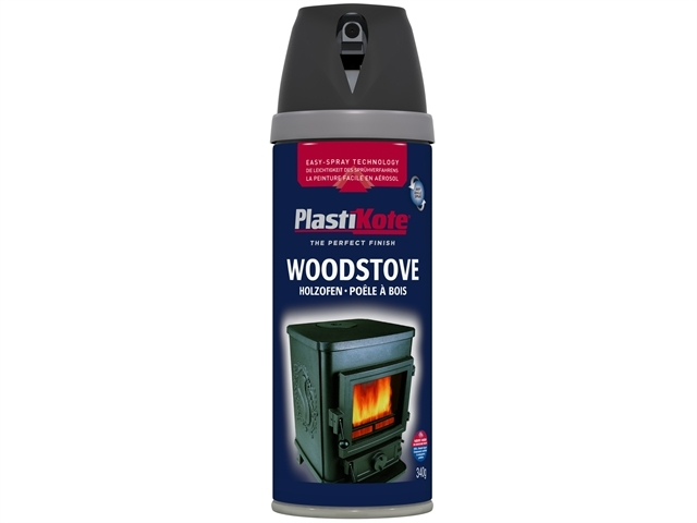 Twist & Spray Wood Stove Paint Black 400ml