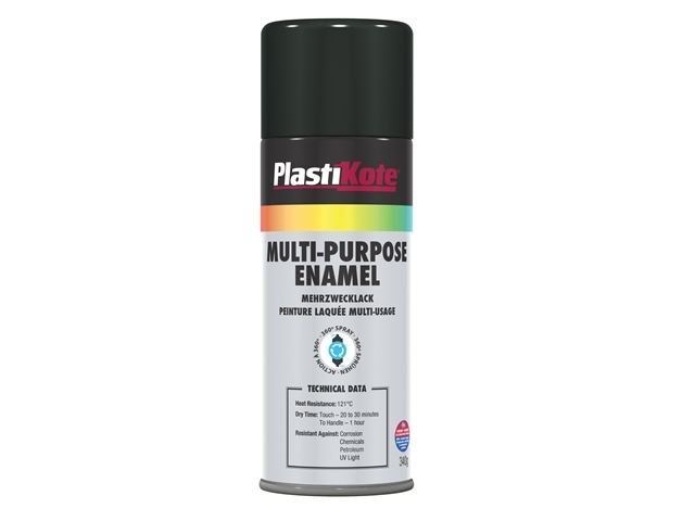 Multi Purpose Enamel Spray Paint Gloss Black 400ml