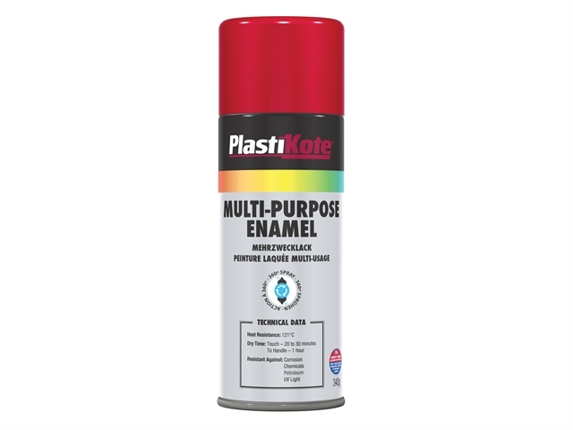 Multi Purpose Enamel Spray Paint Gloss Red 400ml