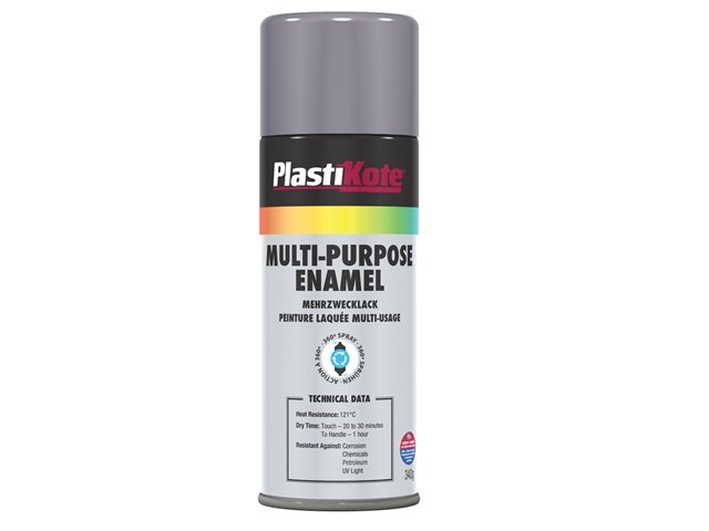 Multi Purpose Enamel Spray Paint Gloss Grey 400ml