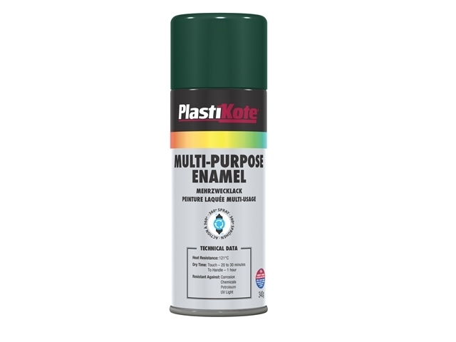 Multi Purpose Enamel Spray Paint Gloss Green 400ml