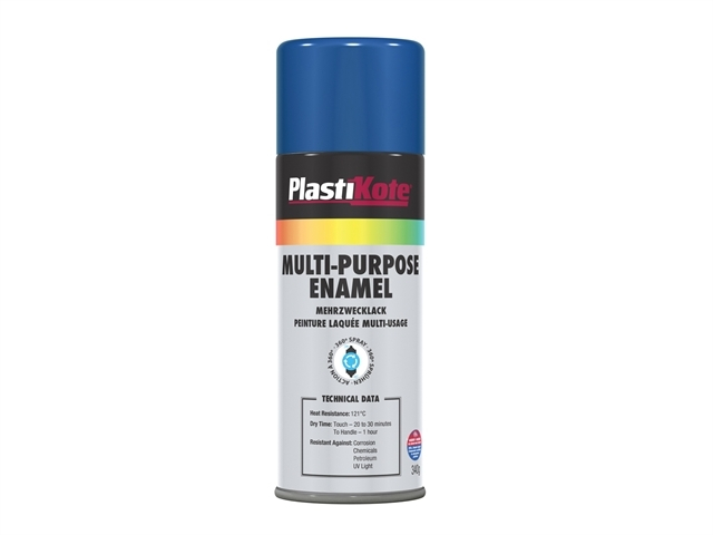 Multi Purpose Enamel Spray Paint Gloss Blue 400ml