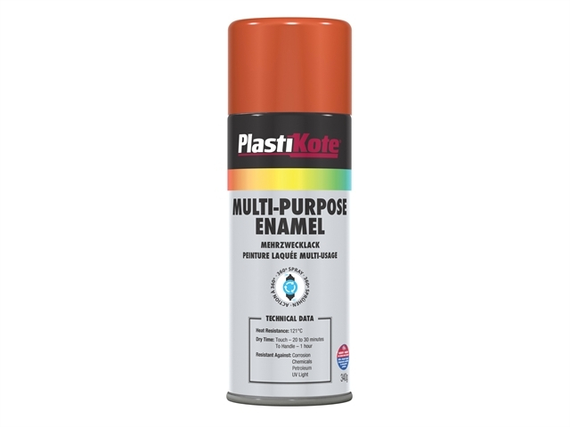 Multi Purpose Enamel Spray Paint Gloss Orange 400ml