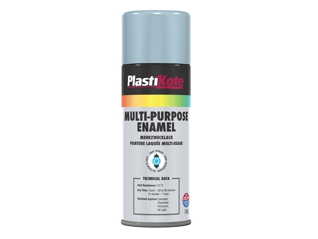 Multi Purpose Enamel Spray Paint Gloss Aluminium 400ml