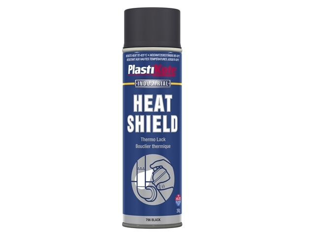 Industrial Heatshield Spray Black 500ml