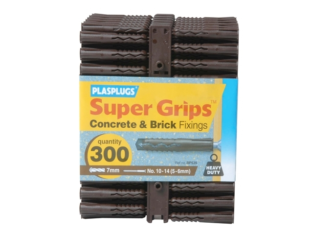 BP 539 Solid Wall Super Grips Fixings Brown (300)