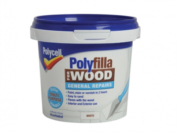 Polyfilla for Wood General Repairs White Tub 380g