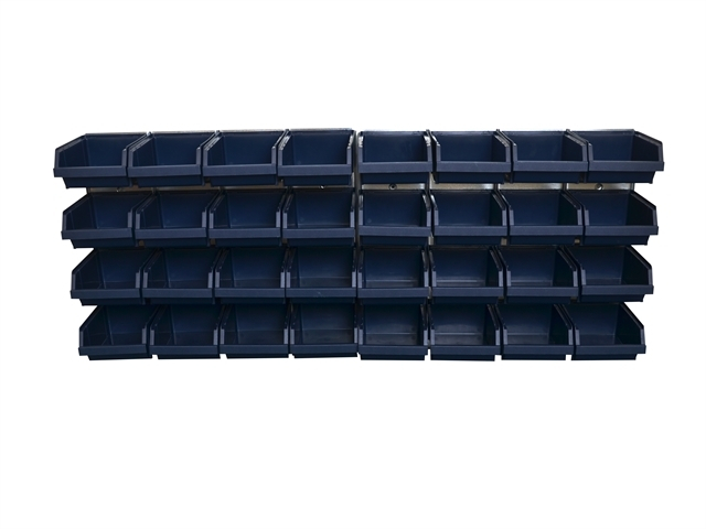 Bin Wall Panel with 32 Bins