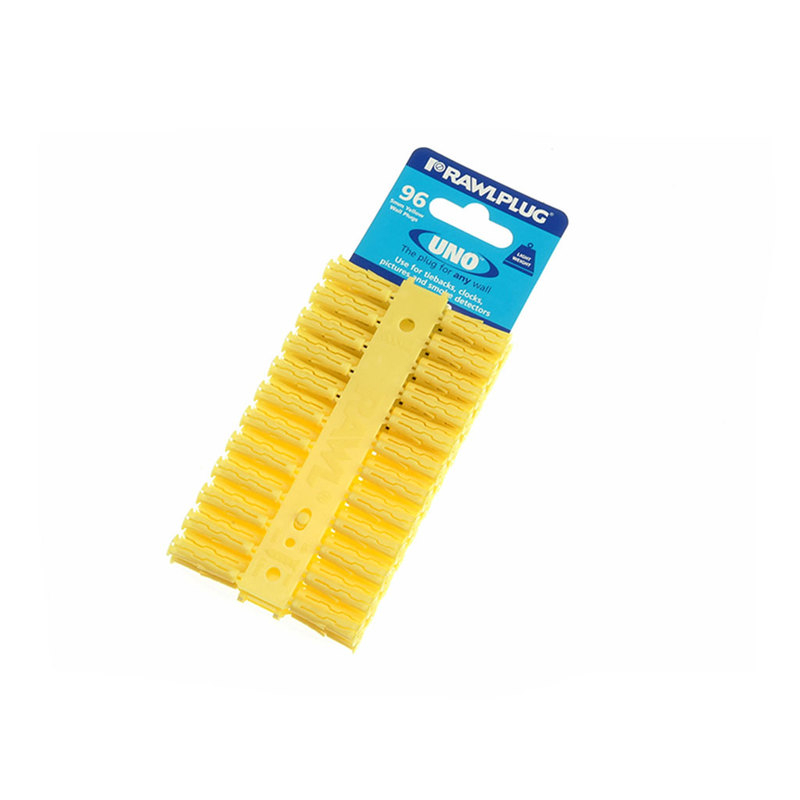 Yellow Uno Plugs 5mm x 24mm Card of 96