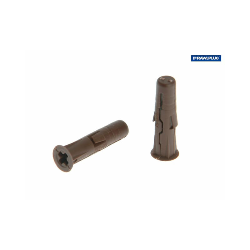 Brown Uno Plugs 7mm x 30mm Pack of 288