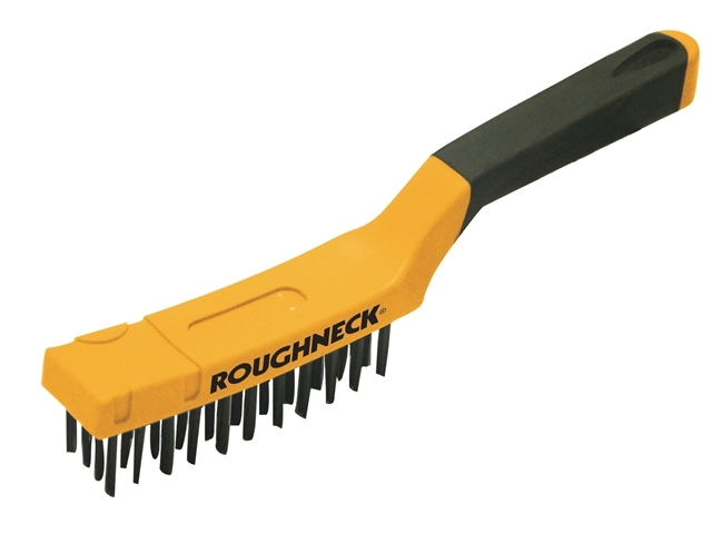 Carbon Steel Wire Brush Soft Grip 300mm (12in) - 4 Row