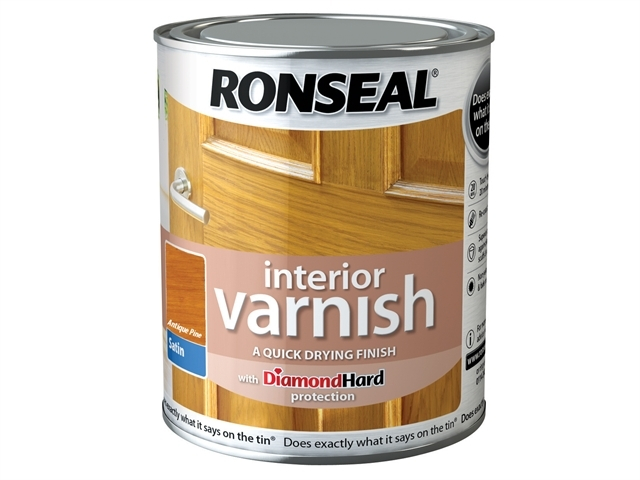Interior Varnish Quick Dry Satin Antique Pine 750ml