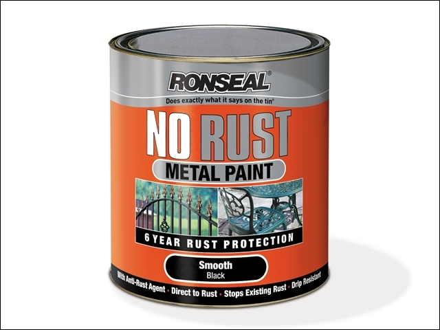No Rust Metal Paint Satin Black 750ml