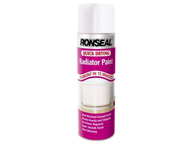 One Coat Radiator Spray Satin White 400ml