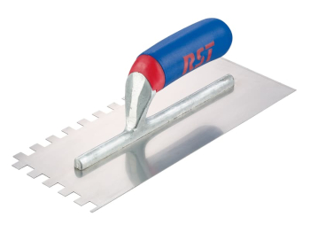 Notched Trowel Square 10mm So ft Touch Handle 11 x 4.1/2in
