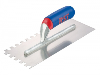 Notched Trowel Square 6mm Sof t Touch Handle 11 x 4.1/2in