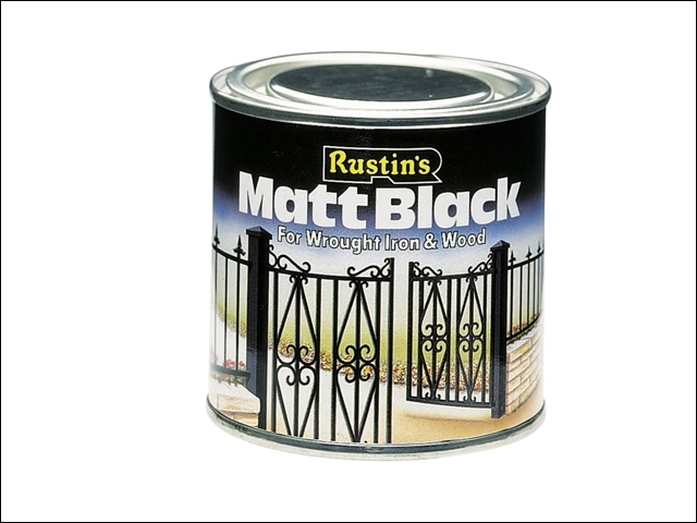 Matt Black Paint Quick Drying 1 Litre