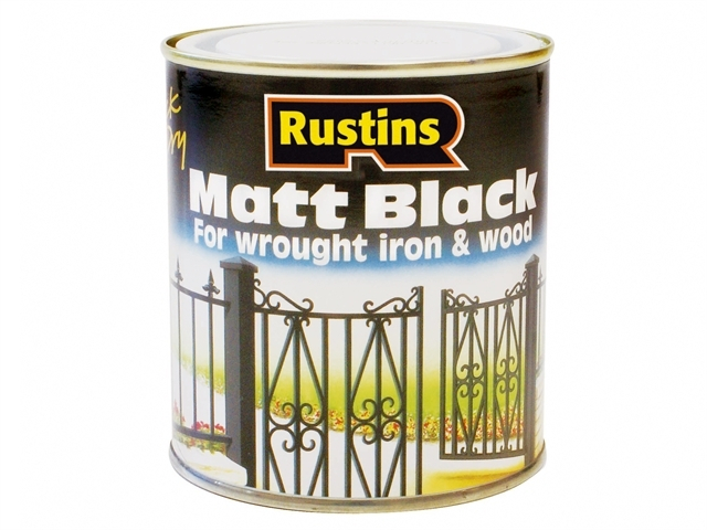 Matt Black Paint Quick Drying 2.5 Litre