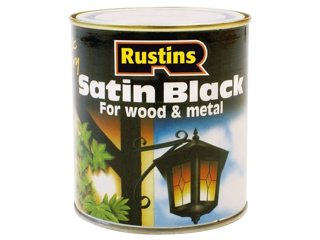 Satin Black Paint Quick Drying 250ml